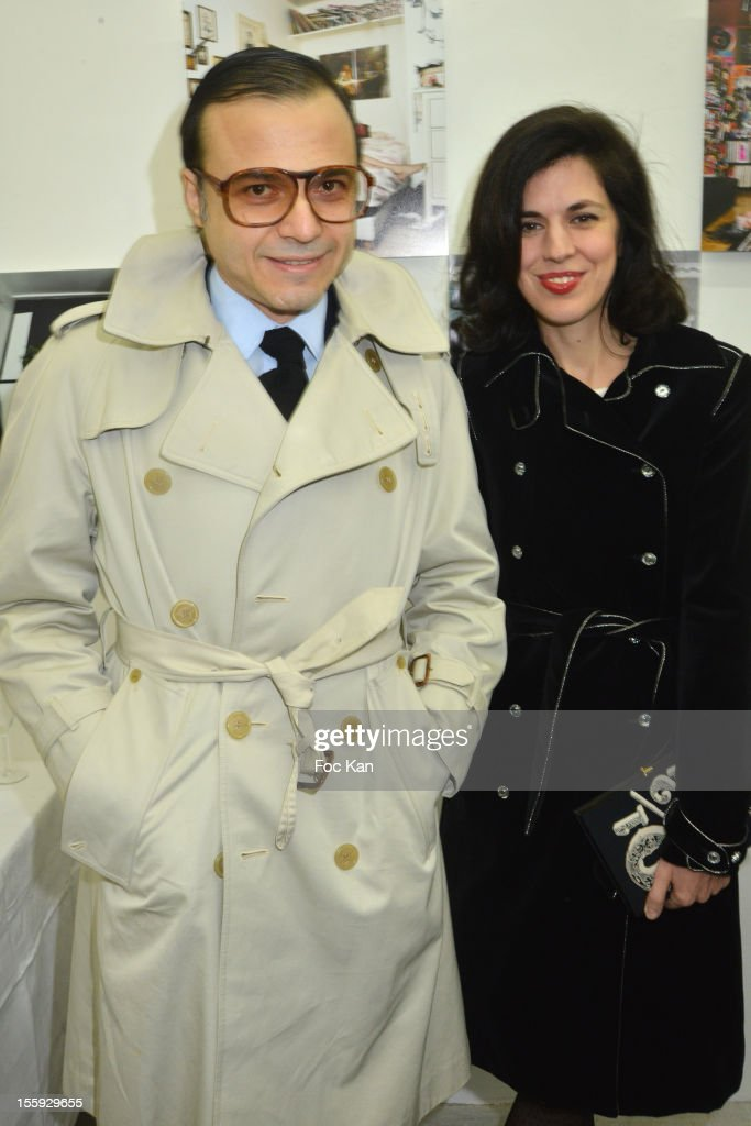 Bertrand Burgalat and <a gi-track='captionPersonalityLinkClicked' href=/galleries/search?phrase=Vanessa+Seward&family=editorial&specificpeople=4360838 ng-click='$event.stopPropagation()'>Vanessa Seward</a> attend 'Les Parisiennes' - Photo Exhibition Preview at Galerie Clementine De La Feronniere on November 8, 2012 in Paris, France.