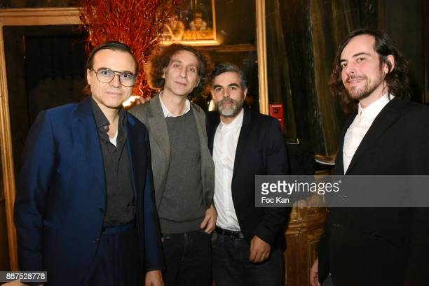 Bertrand Burgalat Philippe Nassif Technikart magazine editor in chief Laurence Remila and performer Gwenael Billaud attend Technikart Party at Les...