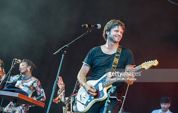 Bertrand Cantat performs at Eurockeennes Music Festival on June 29 2012 in Belfort France
