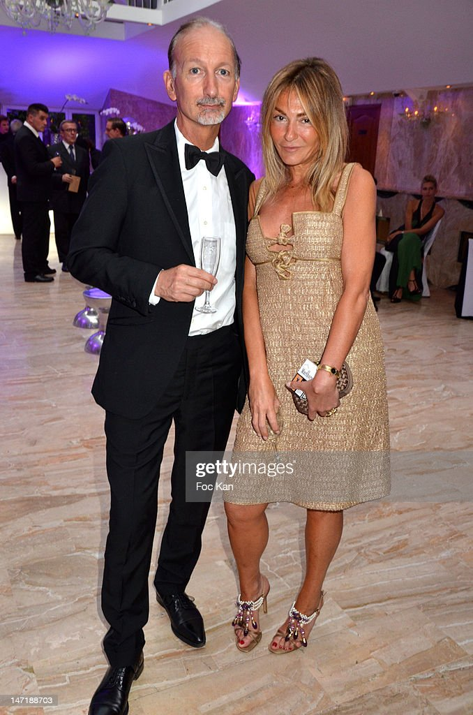 Bertrand de Saint Vincent and Maryam Mahdavi attend the Chateau de Saint Cloud Gala Auction Dinner at the Salons Hoche on June 26, 2012 in Paris, France.