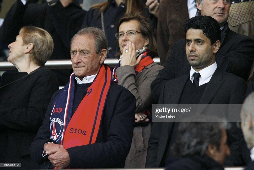 Celebrities At Paris Saint-Germain FC v Stade Brestois 29 - Ligue 1