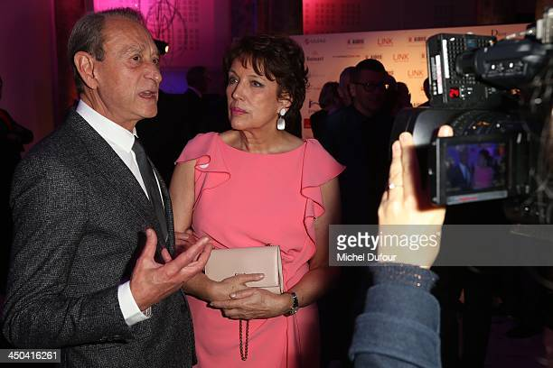 Bertrand Delanoe and Roselyne Bachelot attend 'LINK Pour AIDES' Charity Dinner At Pavillon Cambon In Paris at Pavillon Cambon Capucines on November...