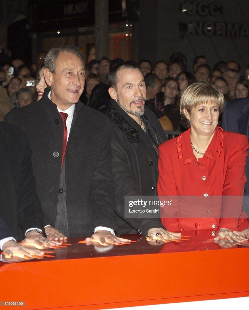 Bertrand Delanoe Florent Pagny and Dominique Rodet