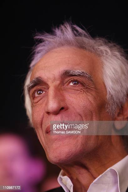 Bertrand Delanoe gave his first major campaign rally at the Zenith in Paris France on February 27th 2008 Gerard Darmon