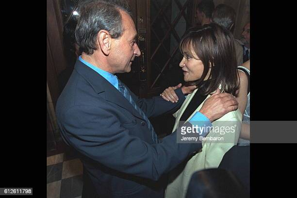 Bertrand Delanoe Mayor of Paris with the actress Evelyne Bouix