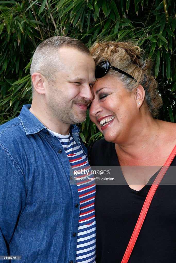 Bertrand Edl an singer Marianne James attend Day Seven of the 2016 French Tennis Open at Roland Garros on May 28, 2016 in Paris, France.