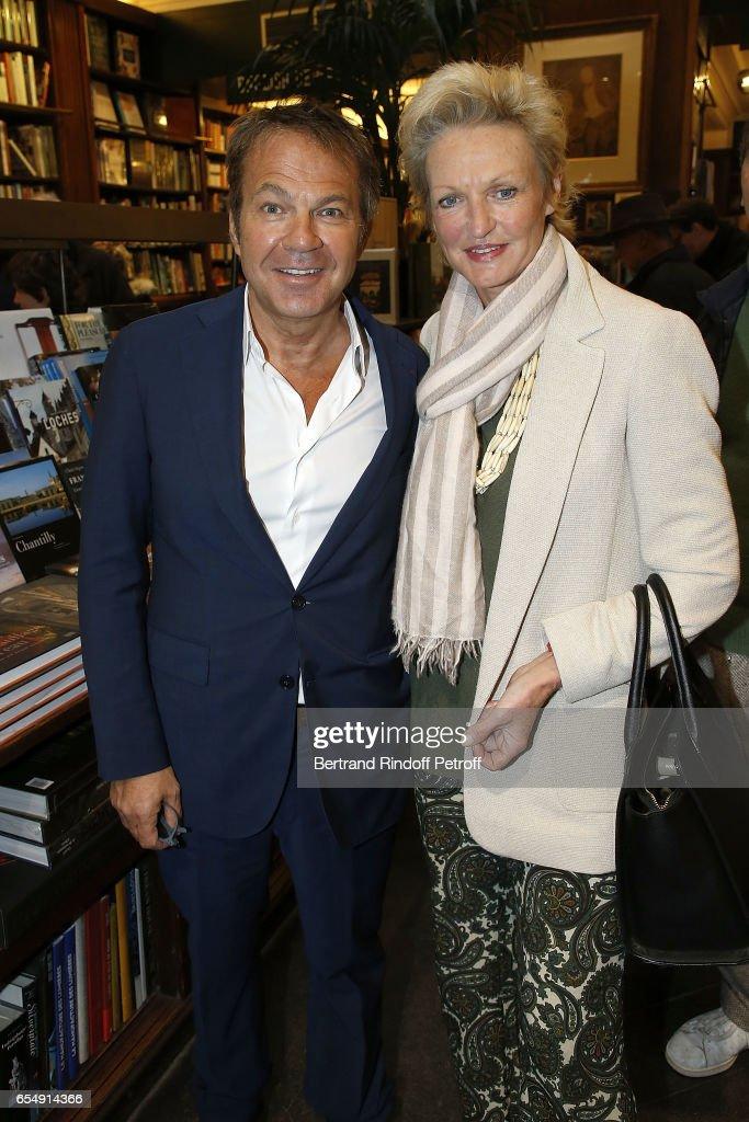 Bertrand Matteoli and Princess Anne de Bourbon-Sicile attend Bertrand Matteoli Signing Book 'Bien Dans Sa Peau' at Librairie Galignali on March 18, 2017 in Paris, France.