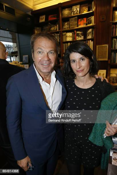 Bertrand Matteoli and Sonia Carcelle attend Bertrand Matteoli Signing Book 'Bien Dans Sa Peau' at Librairie Galignali on March 18 2017 in Paris France