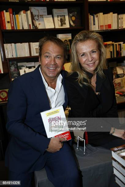 Bertrand Matteoli and Stephanie de la Grandiere attend Bertrand Matteoli Signing Book 'Bien Dans Sa Peau' at Librairie Galignali on March 18 2017 in...