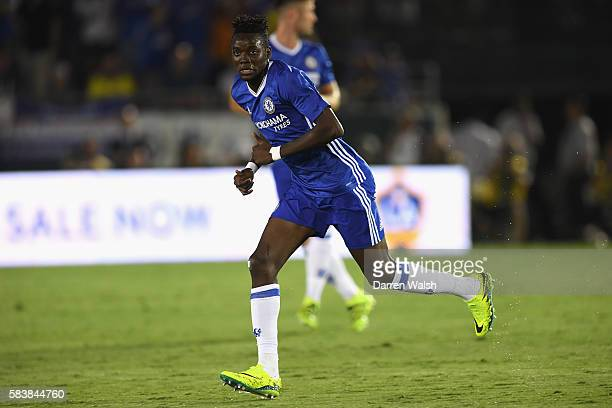 Bertrand Traore looks on during the 2016 International Champions Cup match between Chelsea and Liverpool on July 28 2016 in Los Angeles California