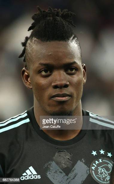Bertrand Traore of Ajax Amsterdam looks on before the UEFA Europa League semi final second leg match between Olympique Lyonnais and Ajax Amsterdam at...
