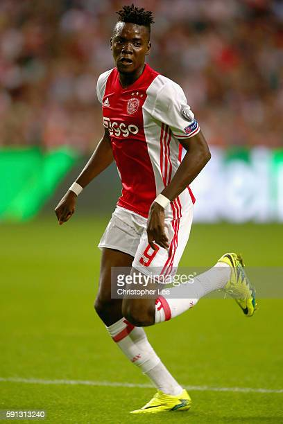 Bertrand Traore of Ajax in action during the UEFA Champions League Playoff 1st Leg match between Ajax and Rostov at Amsterdam Arena on August 16 2016...