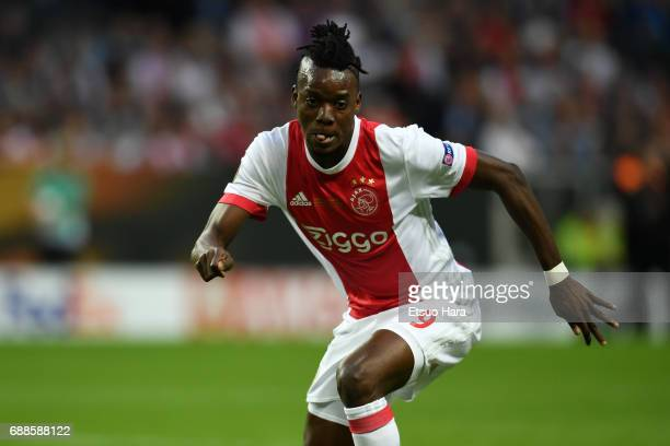 Bertrand Traore of Ajax in action during the UEFA Europa League final match between Ajax and Manchester United at Friends Arena on May 24 2017 in...