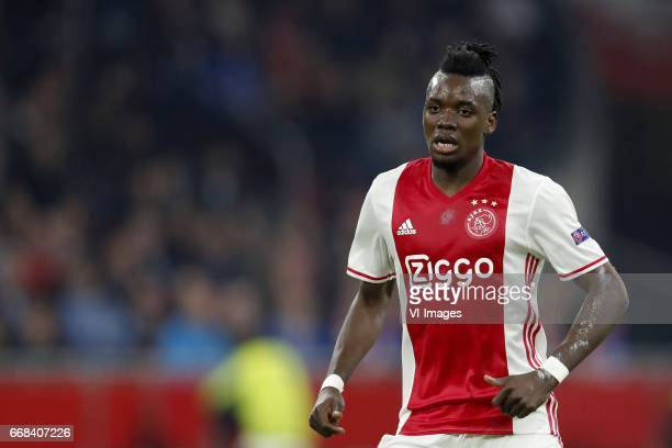 Bertrand Traore of Ajaxduring the UEFA Europa League quarter final match between Ajax Amsterdam and FC Schalke 04 at the Amsterdam Arena on April 13...