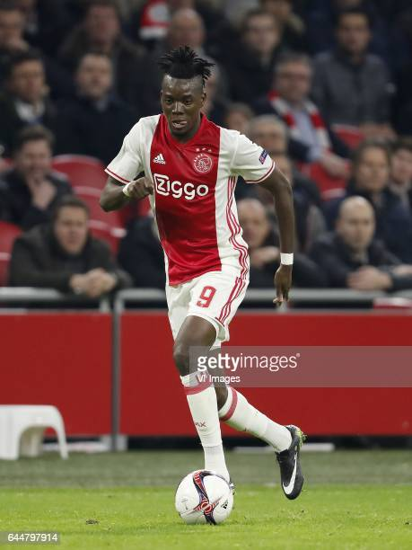 Bertrand Traore of Ajaxduring the UEFA Europa League round of 16 match between Ajax Amsterdam and Legia Warsaw at the Amsterdam Arena on February 23...