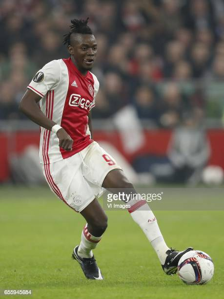 Bertrand Traore of Ajaxduring the UEFA Europa League round of 32 match between Ajax Amsterdam and FC Copenhagen at the Amsterdam Arena on March 16...