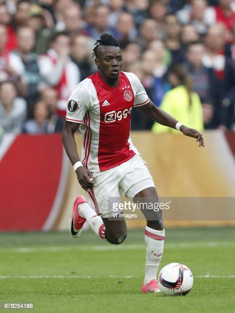 Bertrand Traore of Ajaxduring the UEFA Europa League semi final match between Ajax Amsterdam and Olympique Lyonnais at the Amsterdam Arena on May 03...