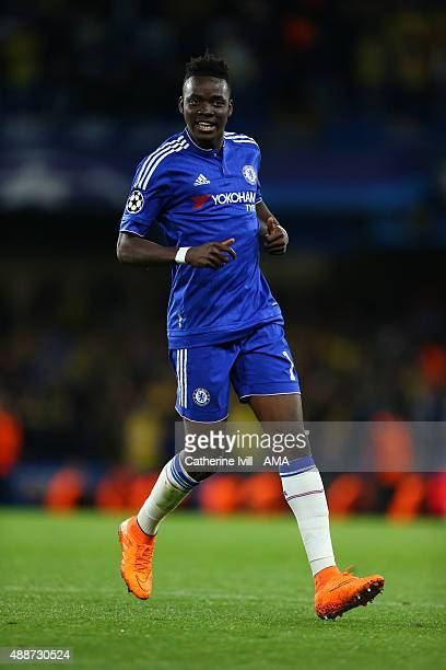 Bertrand Traore of Chelsea during the UEFA Champions League match between Chelsea and Maccabi TelAviv at Stamford Bridge on September 16 2015 in...