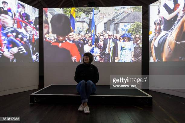 Berwick Upon Tweed British visual artist Katie Davies presents a preview of her documentary 'The Lawes of the Marches' during the 'Border Crossing'...