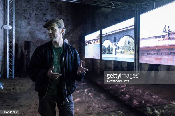 Berwick Upon Tweed Scottish visual artist John Wallace presents a preview of his installation 'TweedSark Cinema' during the 'Border Crossing' edition...