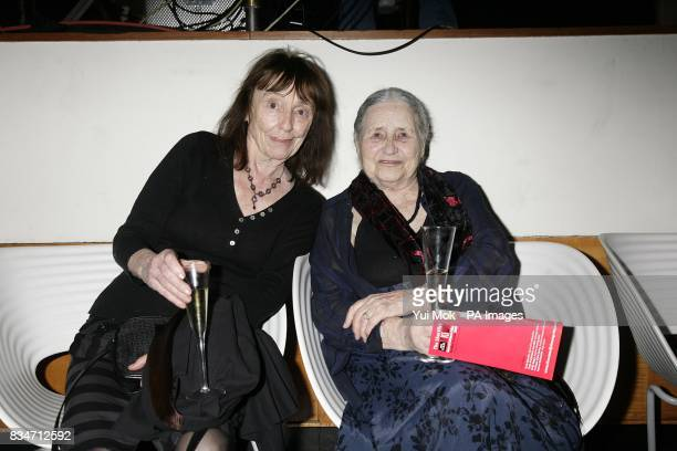 Beryl Bainbridge and Doris Lessing during the BBC Four Samuel Johnson Prize for NonFiction awards at the South Bank Centre London SE1