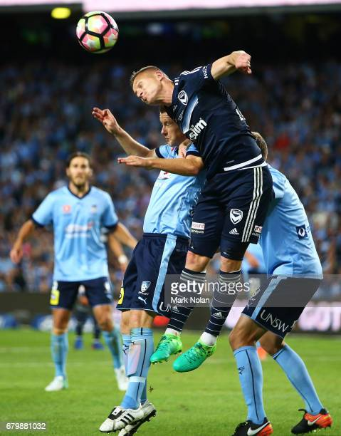 Besart Berisha of the Victory in action during the 2017 ALeague Grand Final match between Sydney FC and the Melbourne Victory at Allianz Stadium on...