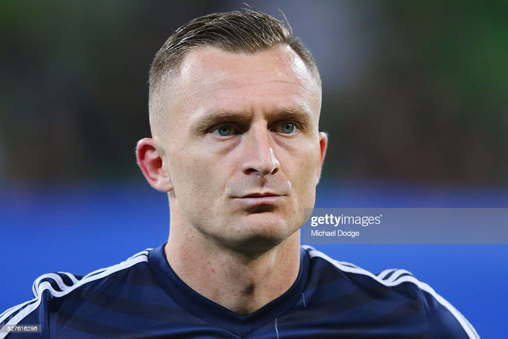Besart Berisha of the Victory looks on during the AFC Champions League match between Melbourne Victory and Gamba Osaka at AAMI Park on May 3, 2016 in Melbourne, Australia.