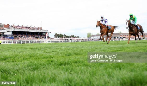 Beshabar riden by Richard Johnson goes on to win The Coral Scottish Grand National Handicap Steeple Chase Race 4 at Ayr