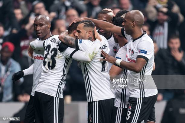 Besiktas celebrate the goal of Anderson Souza Conceicao of Besiktas JK during the UEFA Champions League group G match between Besiktas JK and FC...