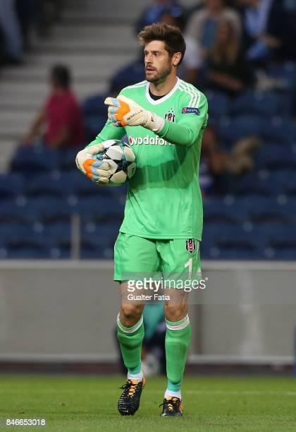 Besiktas goalkeeper Fabri from Spain in action during the UEFA Champions League match between FC Porto and Besiktas JK at Estadio do Dragao on...