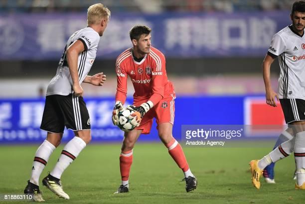 Besiktas goalkeeper Fabri holds the ball during the Friendly International 2017 match between Schalke 04 and Besiktas at Zhuhai Sports Centre Stadium...