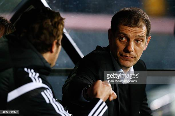 Besiktas Head Coach / Manager Slaven Bilic looks on prior to the UEFA Europa League Round of 16 1st leg match between Club Brugge KV and Besiktas JK...