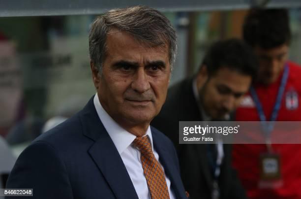 Besiktas head coach Senol Gunes from Turkey before the start of the UEFA Champions League match between FC Porto and Besiktas JK at Estadio do Dragao...