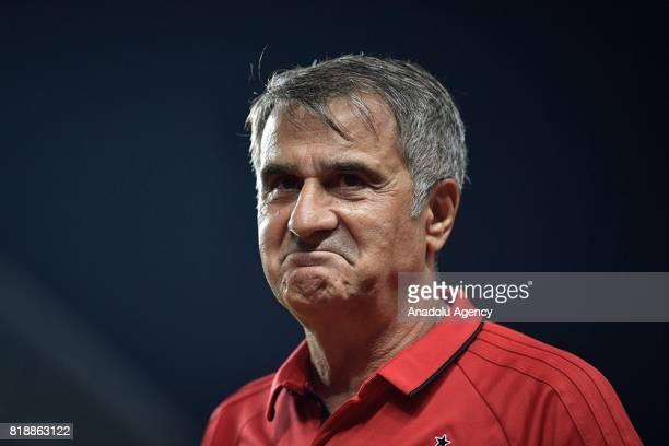 Besiktas head coach Senol Gunes is seen during the Friendly International 2017 match between Schalke 04 and Besiktas at Zhuhai Sports Centre Stadium...