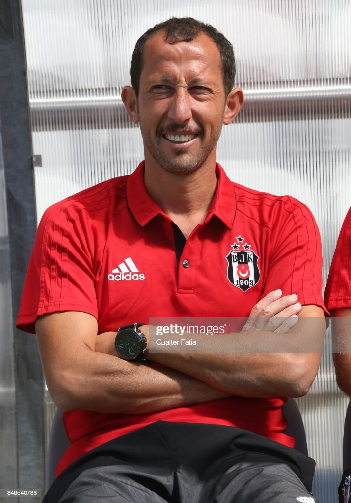 Besiktas head coach Yasin Sulun from Turkey before the start of the UEFA Youth League match between FC Porto and Besiktas JK at Centro de Estagios do Olival on September 13, 2017 in Olival, Portugal.