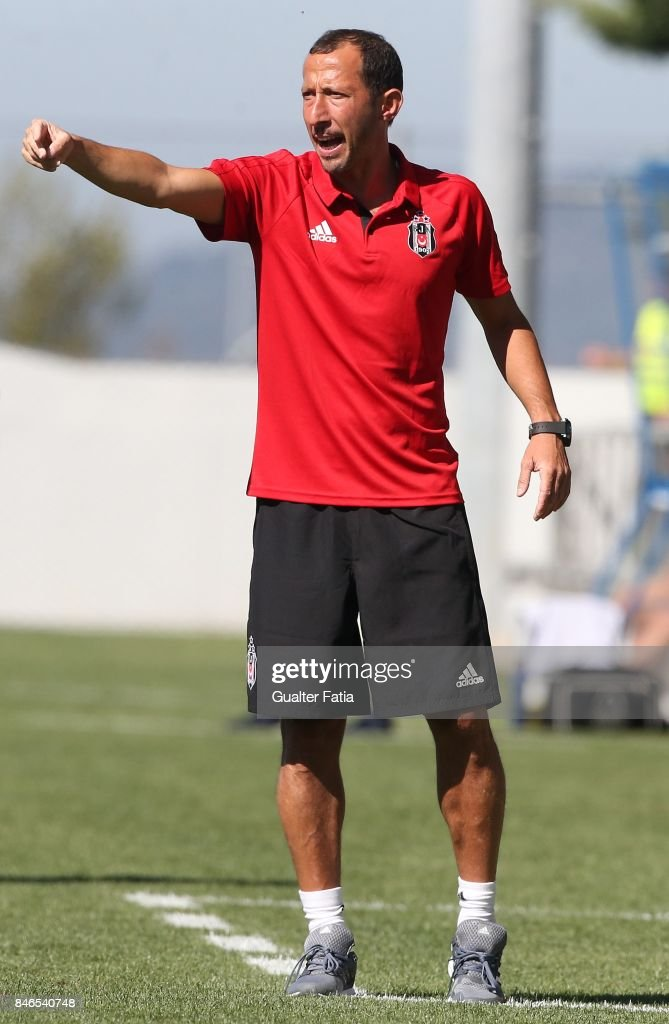 Besiktas head coach Yasin Sulun from Turkey in action during the UEFA Youth League match between FC Porto and Besiktas JK at Centro de Estagios do Olival on September 13, 2017 in Olival, Portugal.