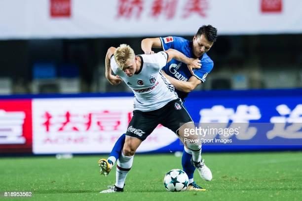Besiktas Istambul Defender Andreas Beck fights for the ball with FC Schalke Midfielder Yevhen Konoplyanka during the Friendly Football Matches Summer...
