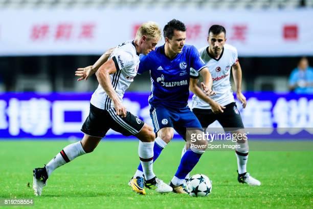 Besiktas Istambul Defender Andreas Beck plays against FC Schalke Midfielder Yevhen Konoplyanka during the Friendly Football Matches Summer 2017...