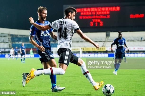 Besiktas Istambul Defender Fatih Aksoy plays against FC Schalke Forward Guido Burgstaller during the Friendly Football Matches Summer 2017 between FC...