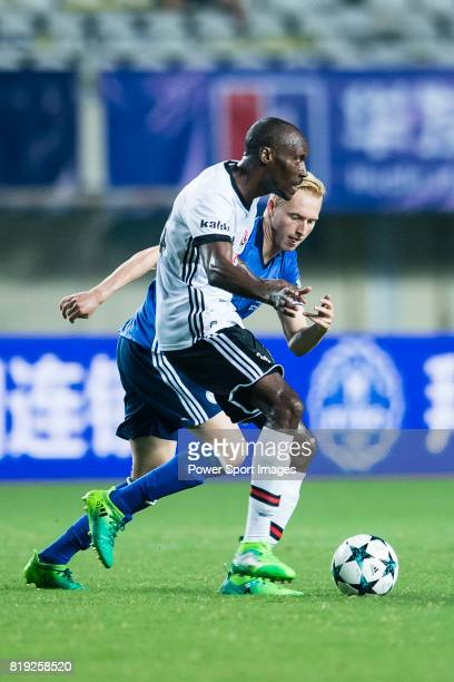 Besiktas Istambul Midfielder Atiba Hutchinson fights for the ball with FC Schalke Midfielder Luke Hemmerich during the Friendly Football Matches...