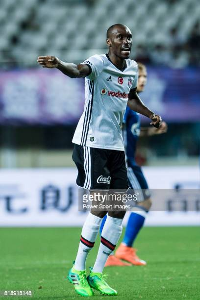 Besiktas Istambul Midfielder Atiba Hutchinson gestures during the Friendly Football Matches Summer 2017 between FC Schalke 04 Vs Besiktas Istanbul at...