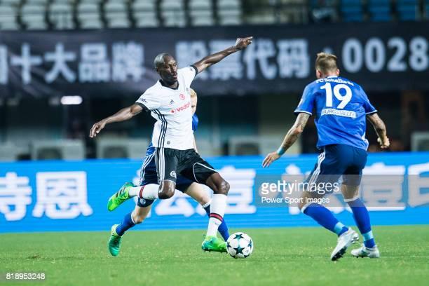 Besiktas Istambul Midfielder Atiba Hutchinson plays against FC Schalke Forward Guido Burgstaller during the Friendly Football Matches Summer 2017...