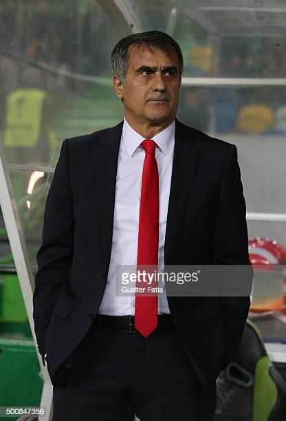 Besiktas JK's coach Senol Gunes during the UEFA Europa League match between Sporting CP and Besiktas JK at Estadio Jose de Alvalade on December 10...