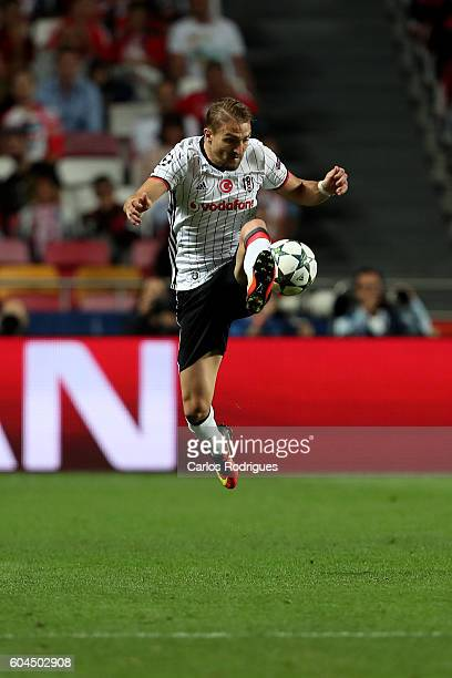 Besiktas JK's defender Caner Erkin from Turquey during the UEFA Champions League Match between SL Benfica vs Besiktas JK at Estadio da Luz on...