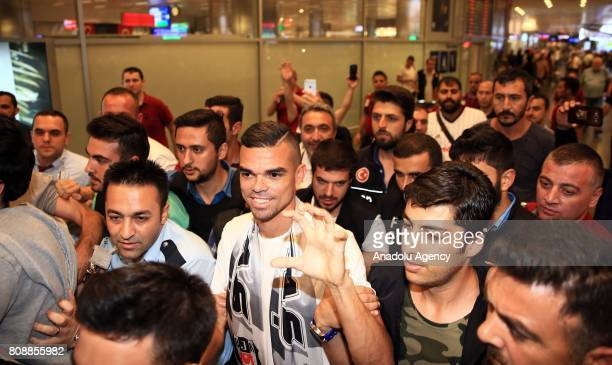 Besiktas' new transfer Pepe arrives to Istanbul Ataturk Airport to sign his contract with Besiktas in Istanbul Turkey on July 5 2017