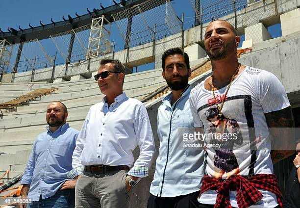 Besiktas' new transfer Portuguese footballer Ricardo Quaresma visits Vodafone Arena in Istanbul Turkey on July 22 2015