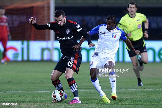 Besiktas' Oguzhan Ozyakup in action during the International Royal Cup 2015 soccer match between Besiktas and Guaratingueta at Alanya Oba stadium in...