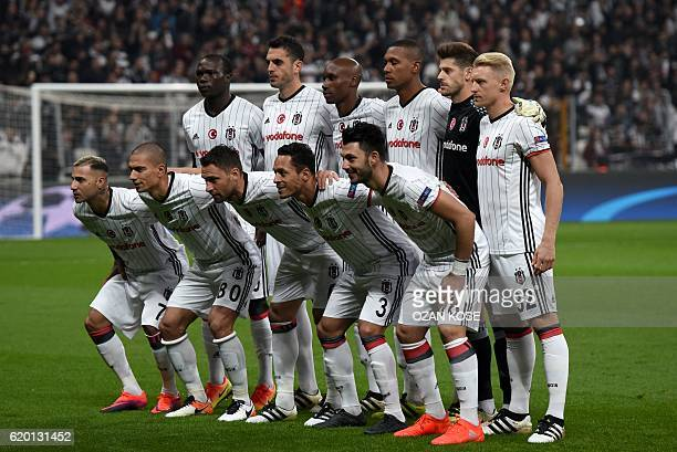 Besiktas' players Portuguese midfielder Ricardo Quaresma Swiss midfielder Gökhan Inler Serbian defender Dusko Tosic Brazilian defender Adriano German...