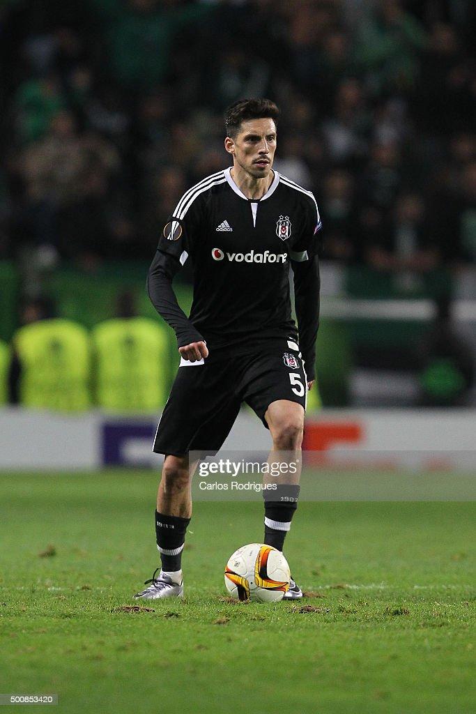Besiktas's midfielder Jose Sosa during the match between Sporting CP and Besiktas JK for UEFA Europe League Group Round on December 10 2015 in Lisbon...