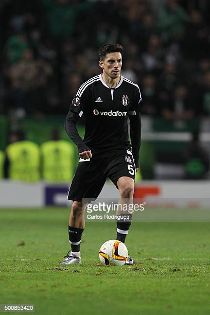 Besiktas's midfielder Jose Sosa during the match between Sporting CP and Besiktas JK for UEFA Europe League Group Round on December 10 2015 in Lisbon...